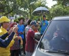 Dinkes Riau Dan KPA Gelar Aksi Simpatik Di Tugu Zapin Pada Peringatan Hari AIDS Sedunia