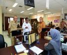 Gubri H Arsyadjuliandi Rachman Dan Dirjen Otda Sumarsono Didampingi Kaban BP2T Prov Riau Tinjau BP2T Prov Riau Di Gedung Menara Lancang Kuning