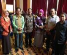 Opening Grand Final Lomba Perpustakaan Tingkat Nasional. Ibuk Hj. Rahima Erna, M.Si Bersama Kepala Perpustakaan Nasional. Senin 11 September 2017 Lumire, Jakarta.