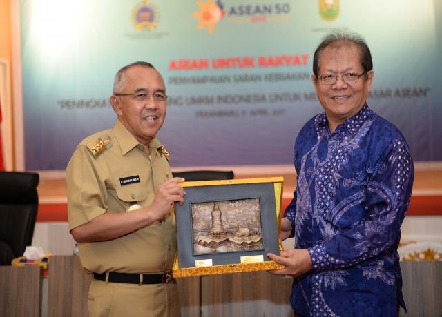 Gubri Keynote Speaker Kegiatan Seminar Penyampaian Saran Kebijakan ASEAN