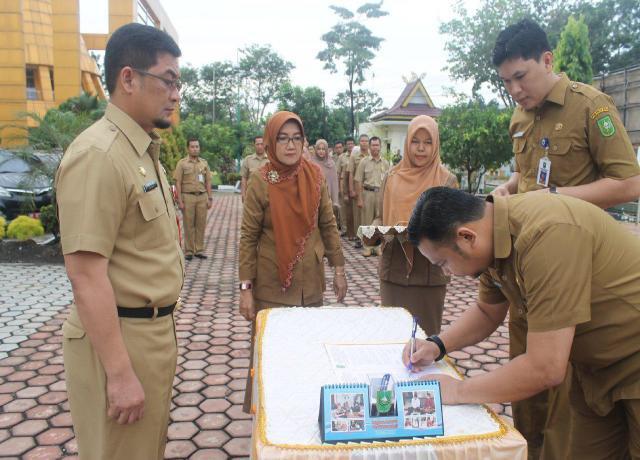 Serah Terima Jabatan Dan OPD Baru Dinas ESDM Prov Riau