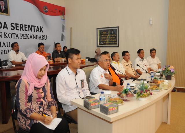 Telekonference Pilkada Serentak Kab Kampar Dan Kota Pekanbaru Provinsi Riau