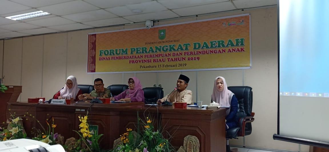 Dinas PP Dan PA Provinsi Riau Taja Rapat Forum Perangkat Daerah Tahun 2019