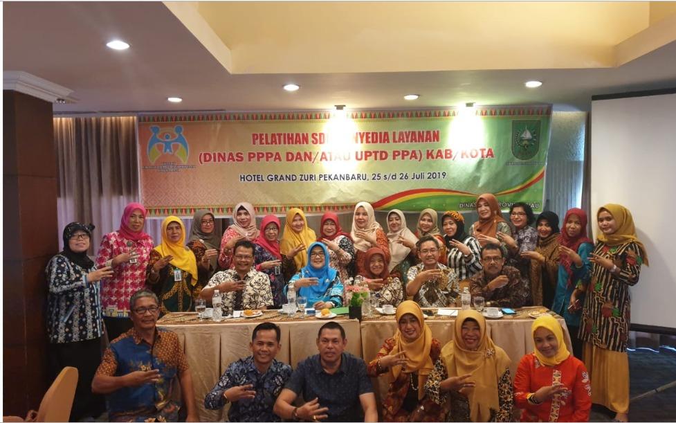 Pelatihan SDM Penyedia Layanan Di Dinas PPPA Dan UPTD PPA Se- Provinsi Riau