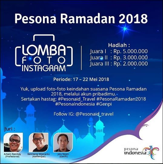 Pesona Ramadan 2018 Lomba Foto Instagram