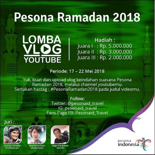 Pesona Ramadan 2018 Lomba Vlog