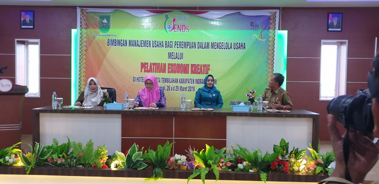 Tingkatkan Ekonomi Kreatif Bagi Perempuan, Pemprov Riau Taja Bimbingan Manejemen Usaha Di Kabupaten Indragiri Hilir