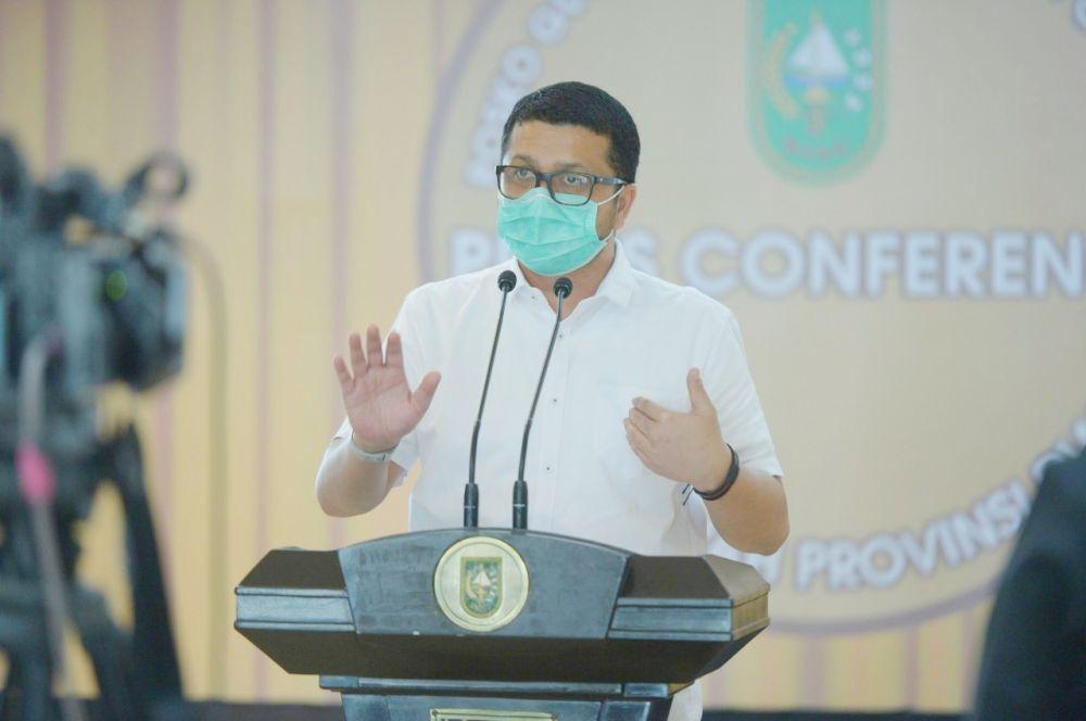 Jubir Covid 19 Riau: Dengan Pakai Masker 70 Persen Kemungkinan Terkena Covid 19 Berkurang