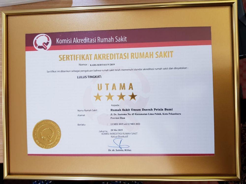 Rsud Petala Bumi Provinsi Riau Lulus Akreditasi Utama Berita Website Resmi Pemerintah Provinsi Riau