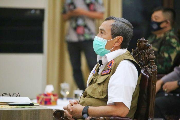 Vidcon Dengan Gugus Tugas Nasional, Bupati Rokan Hilir Bersama Gubernur Riau  Jelaskan  Kondisi Wilayah Yang Tidak Ada Kasus Positif Covid 19