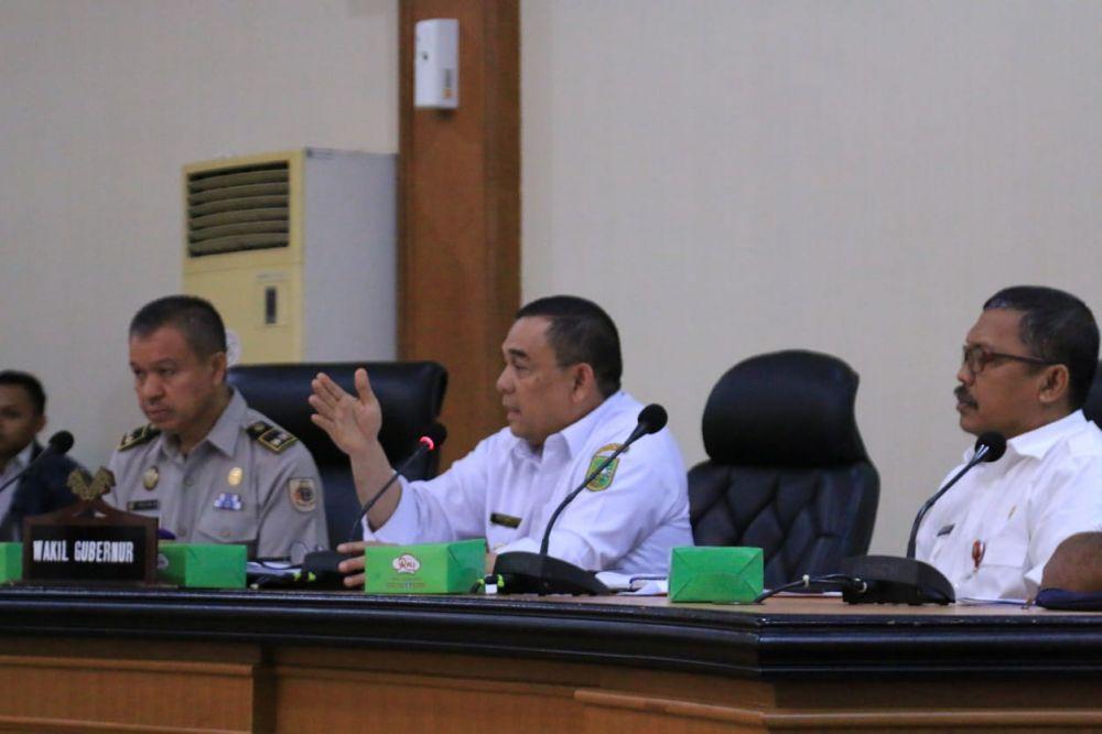 Wagubri Pimpin Rapat Fasilitasi Konflik Lahan KSU - PT Partisa Trading Coy