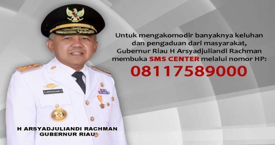Gubri Arsyadjuliandi Rachman Umumkan SMS Center