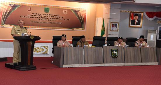 Rakor Pimpinan Satuan Karya Gerakan Pramuka Provinsi Riau Tahun 2017