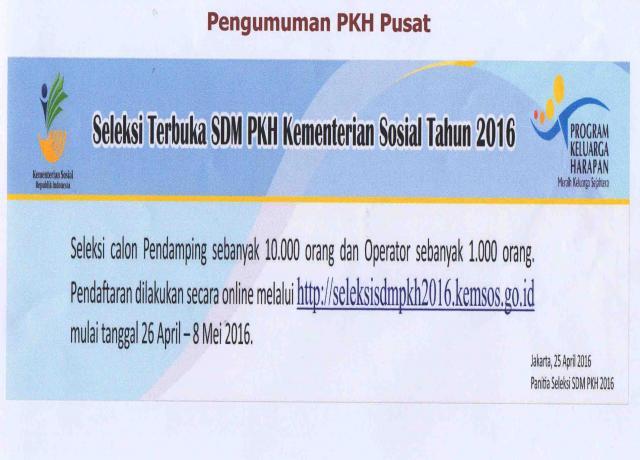 Seleksi Terbuka Sdm Pkh Kementerian Sosial Tahun 2016 Satuan Kerja Perangkat Daerah Website Resmi Pemerintah Provinsi Riau